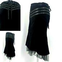 Black Steampunk Corset Skirt Velvet Goth Vintage Victorian Vampire Pirate 10 38