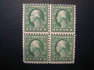 1916 1c Washington, green  S#462 block 4 MNH OG