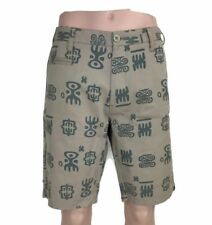 Matix Men's Shorts Sample Tribal Print Two Toned Tan Surf Modern Fit Size 34