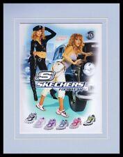 Christina Aguilera 2005 Skechers Framed 11x14 Original Vintage Advertisement