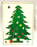 Vintage Christmas Tree Card 30 Realistic Plastic Bakelite Etc Sewing Buttons VBC