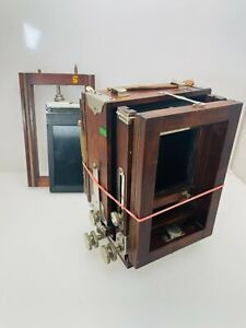 Antique Rochester NY Gundlach 4 x 5 Wood Folding Camera