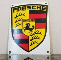 VINTAGE PORSCHE PORCELAIN GAS GERMANY STUTTGART DEALERSHIP SERVICE SALES SIGN