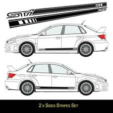 For SUBARU IMPREZA STI 2 x VINYL STICKERS Side Stripes DECALS Graphics Sport