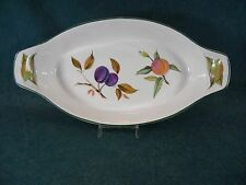 "Royal Worcester Evesham Vale Large Oval 13 3/4"" Fish Baking Dish England"