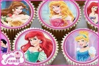 30 x disney villains comestible cupcake toppers plaquette papier fairy cake topper