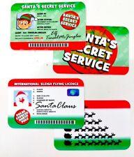 Santa Claus Lost Driving Sleigh Licence & Elf Santa's Secret Service ID Card