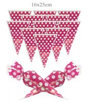 Spotty Pink Cone Party Cello Bags - Sweet Candy Cones - Birthday Favours Bag