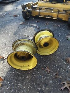 John Deere 318 Front Rims one inch bearings.