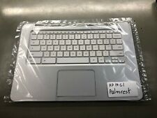 HP Chromebook 14 G1 Palm Rest Keyboard Track Pad Silver White New NOS
