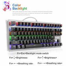 87Keys Gaming Keyboard 6 color LED Backlit Multimedia Mechanical Game Keyboard