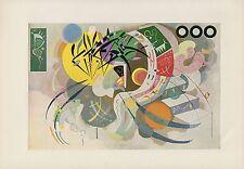"""1958 Vintage Kandinsky """" Dominant Curve """" Abstrait Couleur Estampe Lithographie"""