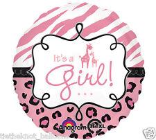 "18"" FOIL BALLOON  NEW BABY IT'S GIRL BABY SHOWER BIRTH GIRAFFE DESIGN"