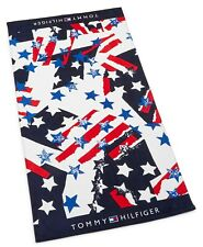 NEW Tommy Hilfiger Oversized Beach Towel Abstract American Flags NWT