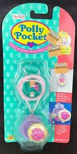 vintage Polly Pocket Baby Bear Pendant Locket Necklace NEW MOC 1994 Rare