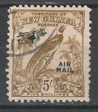 NEW GUINEA 1932 UNDATED BIRD AIRMAIL 5/- USED