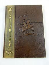 1934 Cretin High School Yearbook Cretinite St Paul Minnesota Raiders