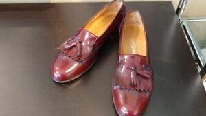 Salvatore Ferragamo Italian burgundy tassel slip on loafer 11.5 B