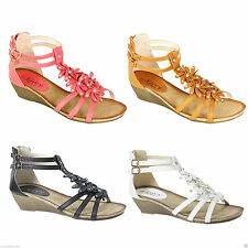 Women's Floral Wedge Heel Sandals & Beach Shoes