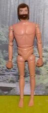 VINTAGE ACTION MAN 40th NUDE NAKED GRIPPING HAND FLOCKED HAIR BROWN BEARDED