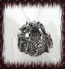 Bague Unisexe Dragon Totem Gothique Punk Argent Du Tibet Taille 59-60