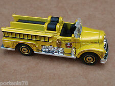2013 Matchbox CLASSIC SEAGRAVE FIRE ENGINE 17/120 MBX Heroic Rescue LOOSE Yellow