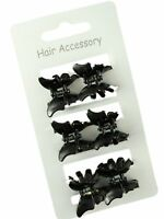 Set of 6 Butterfly Mini Hair Claw Clips Clamps Grips Black or Tort Accessories