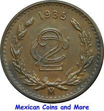 Mexico 2 Centavos Mo 1935, Uncirculated.