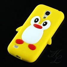 Samsung Galaxy S4 mini i9195 Silikon Schale Case Handy Hülle Schutz Pinguin Gelb