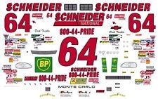 #64 Dick Trickle Schneider Trucking 1/32nd Scale Slot Car Waterslide Decals