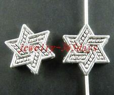 100pcs Tibetan Silver Nice 6 pointed star beads Spacers 13x3.5mm ZN3603
