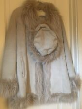 Women's Wilson Leather Suede and Fur Jacket and Hat combo. Size S