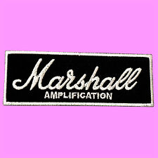 Marshall Amplification Black Logo Amp Effect Pedal Iron On Embroidered Patch