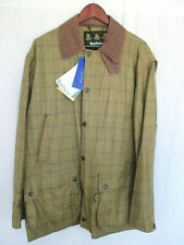 Barbour Men's Lightweight Tweed Jacket Large Brown New Zealand Wool NEW WITH TAG