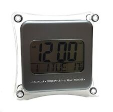 TOP LCD Digital Wecker Uhr Digitalwecker Reisewecker Kalender Datum Temperatur