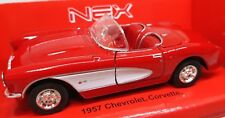 Welly Original Car Model Chevrolet Corvette 1957 Open Roof Red Collectible Toy