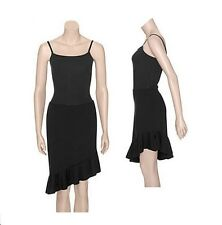 Danskin 2621 Black Women's Small (4-6) Salsa Pull-On Dance Skirt