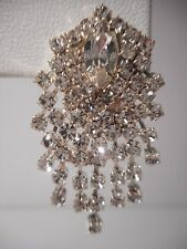 NEW Pierced Rhinestone Cascade Waterfall Earrings with a Marquise Center Stone