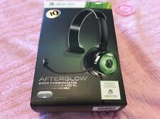 XBOX 360 Afterglow Wired Communicator Gaming Microphone Headset NEW Green Black