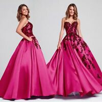Chic Ballkleid Abendkleid Gala Partykleid Spitze Party Kleid rotlila PINK BC562