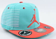 RARE NIKE AIR JORDAN Turquoise/Coral Red Baseball Hat, Cap, One Size Youth