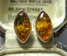 Baltic Amber Stud 13 mm Earrings Gorgeous Jewellery Pair Sterling Silver 925