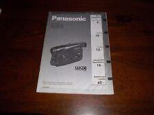 PANASONIC NV-R50B RARE ORIGINAL UK manuale di istruzioni LIBRETTO ISTRUZIONI R50 VHSC
