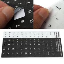 Black Non-transparent English UK US Standard Keyboard Layout Sticker Durable