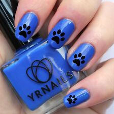 Nail WRAPS Nail Art Water Transfers Decals - Simple Dog Paw Print - S618