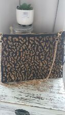 💜 💜 Marks and Spencer Oro Negro Embrague Bag BNWT 💜 💜
