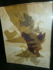 Rare Tom Paar Signed Abstract Art Modern Painting On Canvas