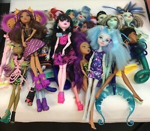 Monster High BULK lot of 22 Various Used Condition 30315