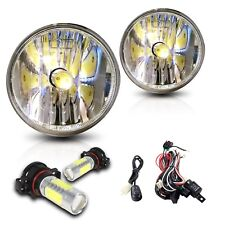 For 15-18 GMC Canyon Fog Lights w/Wiring Kit & COB LED Bulbs - Clear