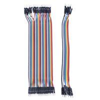 40pcs 20cm 2.54mm male to male Breadboard jumper wire for Arduino V1L7